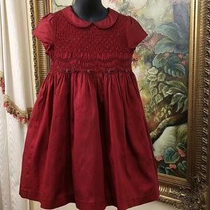 Janie & Jack Girls Silk Holiday Dress Size 4